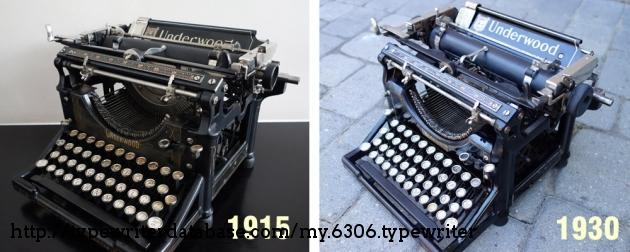Comparison of 1915 Underwood 5 and 1930 Underwood 5