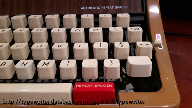 Does this typewriter have Repeat Spacer?