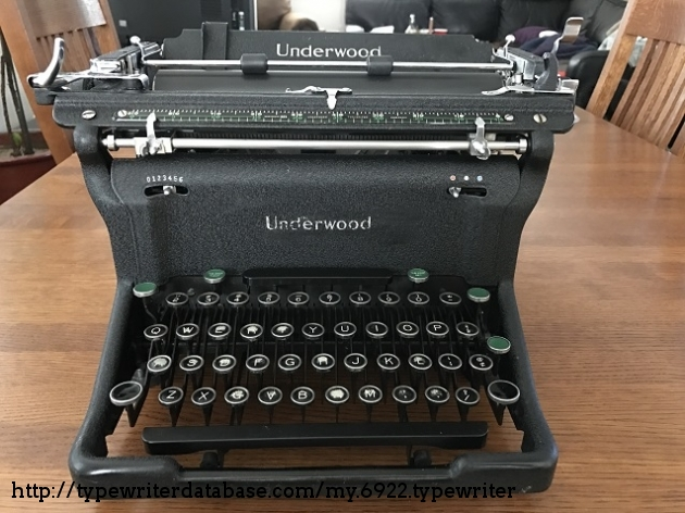 Front of the typewriter.