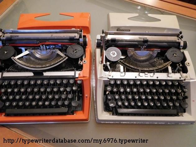 Left, 1977 model; right, 1971 model.