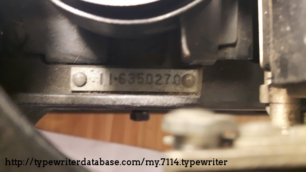 The serial number that has confused some of us. The ll at the start of the series of number apparently stands for page size. (Sorry for the grime!)