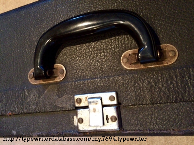 Simple one-button latch was improved in later versions.