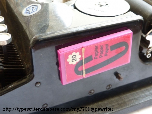 It's funny to see these pink TippEx housing on this black machine