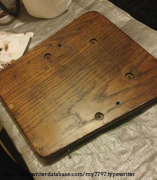 Restoring the wood board.