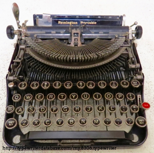 1930 Olive Green Remington Portable #3 typewriter with case Office ...