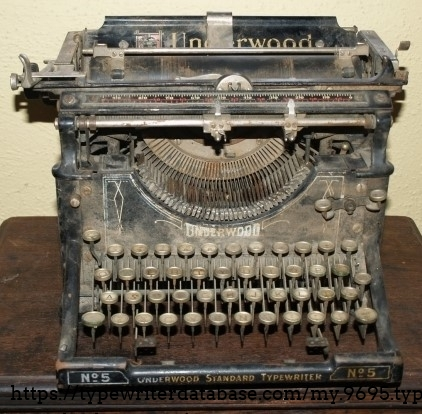 This is what this Underwood 5  looked like when I got it.  it was completely frozen.