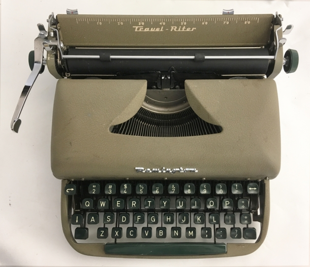 """Remington """"Travel-Riter"""" from the top..."""