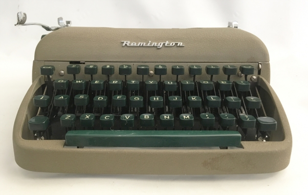 """Remington """"Travel-Riter"""" from the front..."""