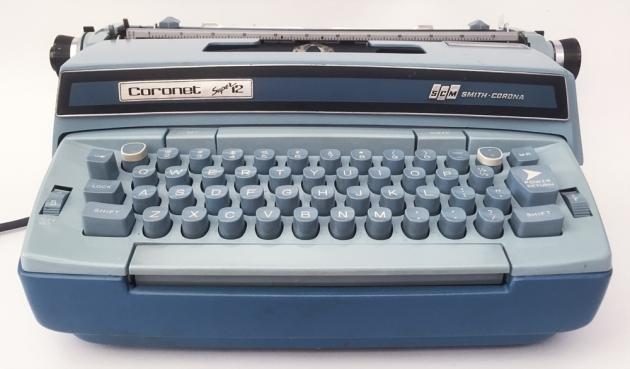 "Smith-Corona ""Coronet Super 12"" from the front..."
