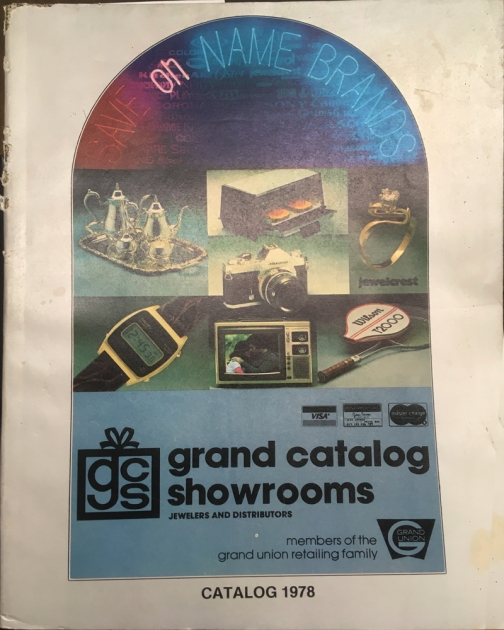 """Cover of  """"Grand Catalog Showrooms"""" from 1978..."""
