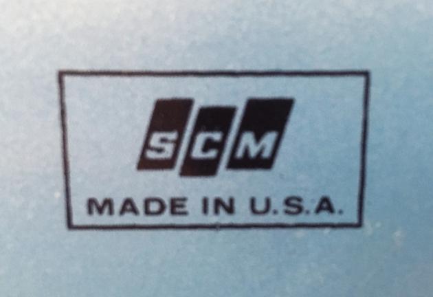 "Smith-Corona ""Coronet Super 12"" from the back (detail)..."