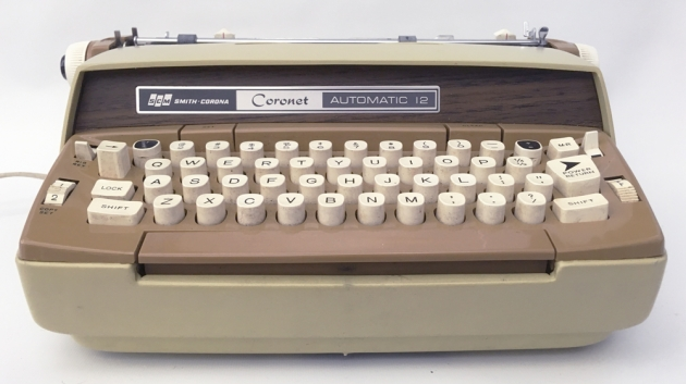 """Smith Corona """"Coronet Electric 12"""" from the front..."""