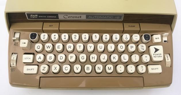 "Smith Corona ""Coronet Electric 12"" from the keyboard..."