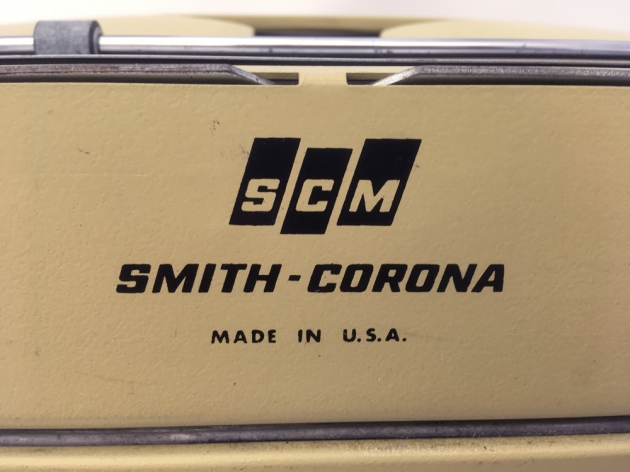 """Smith Corona """"Coronet Electric 12"""" from the back ... (detail)"""