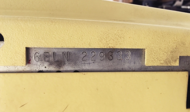 "Smith Corona ""Coronet Electric 12"" serial number location..."