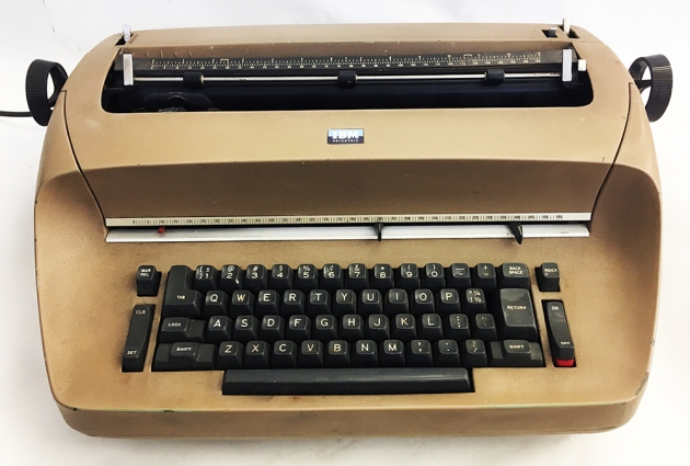 IBM Selectric l from the keyboard...
