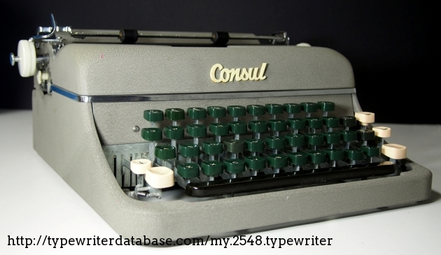 1960 consul 15 series typewriter zp 244358 twdb for Consul database