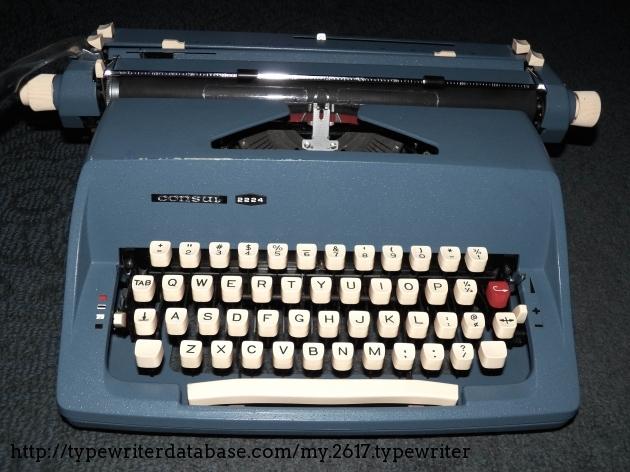 1972 consul 2224 typewriter 2222049497 twdb for Consul database