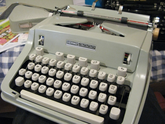 Keyboard close-up. I love typewriters with a numeral 1.