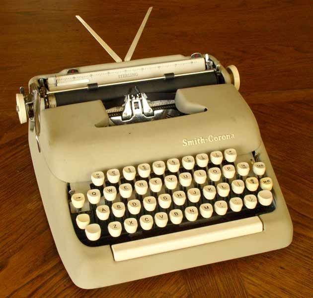 "The typewriter anchorage is removable so you can use the case as a small ""overnighter"" suitcase."