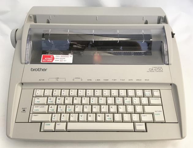 1992 brother gx 6750 typewriter k4e014093 twdb rh typewriterdatabase com Brother GX-6750 User Manual Brother GX-6750 User Manual