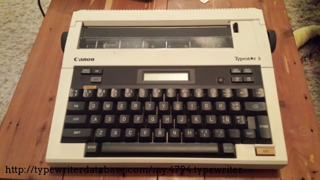 198x canon typestar 5 typewriter g12124175 twdb rh typewriterdatabase com canon qs 100 typewriter user manual canon es3 typewriter instruction manual