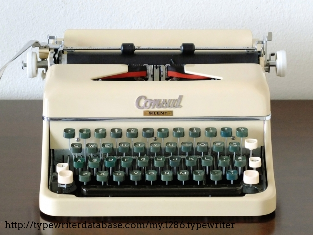 1961 consul silent typewriter zp 218002 twdb for Consul database