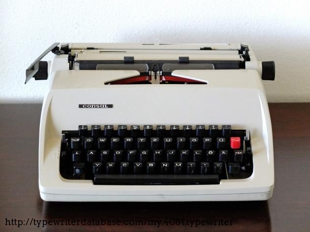 1988 consul 2223 typewriter 8 222 407777 twdb for Consul database