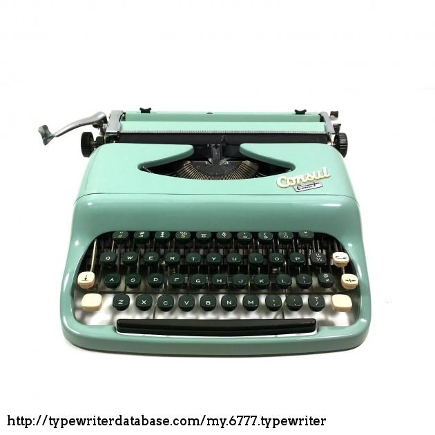 1960 consul comet typewriter 031172046 twdb for Consul database