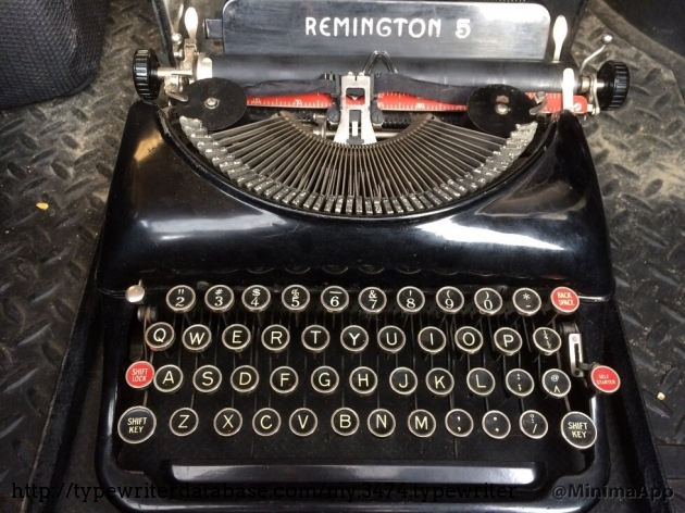 1940 Remington Portable 5