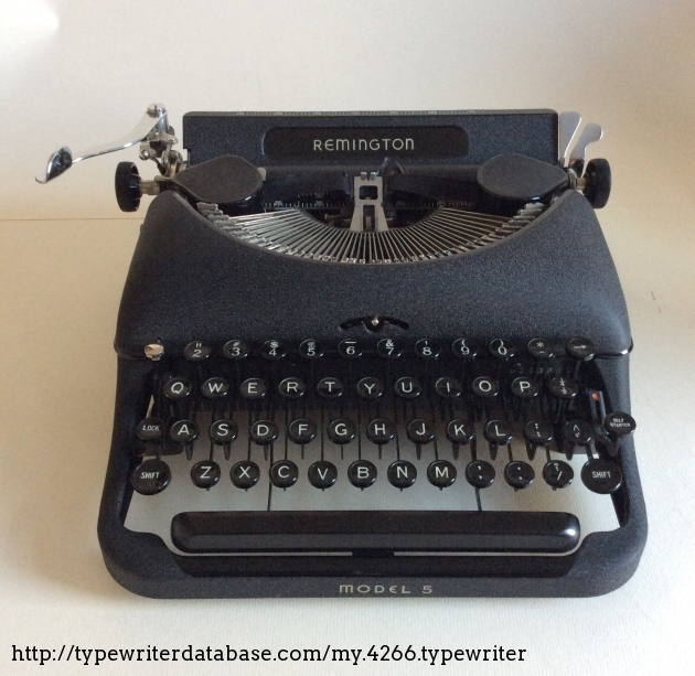 From the Virtual Typewriter Collection of Martha Lea: 1941 Remington  Portable 5 DeLuxe
