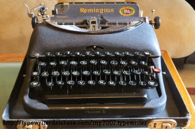 1939 remington portable 5 typewriter cb21161 twdb for Consul distributed lock