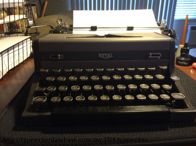 1948 Royal Quiet Deluxe On The Typewriter Database