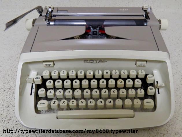 Rare 1965 RedOrange Royal Safari Manual Typewriter Case & Manual ...