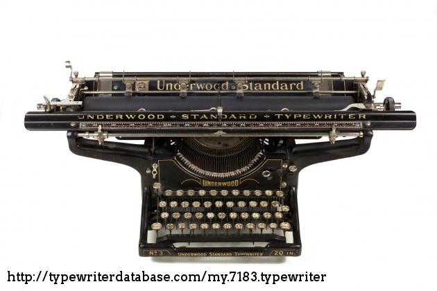 3 Made in USA 1926 11-Inch Model Underwood Standard Typewriter No