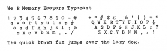 תוצאת תמונה עבור We R Memory Keepers - Typecast Collection - Typewriter - Mint